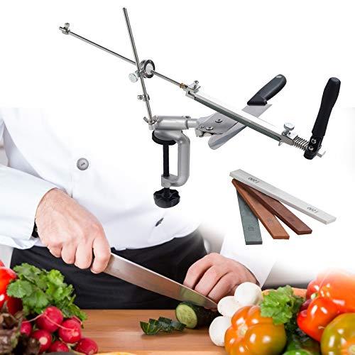 TTLIFE Afilador de cuchillos de ángulo fijo Afilador de...