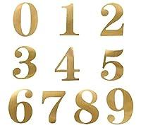 TOPTOMMY 金色 テーブル番号 ゴールド ナンバーステッカー 数字ステッカー テーブル用 席札用 (1-20)
