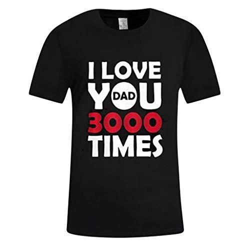 Mode T-Shirt Männer Einfache Liebe Sie DREI Tausend Mal Brief Gedruckt Tees Kurzarm Oansatz Bluse Schwarz XL