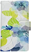 mitas Xperia XZ1 SO-01K ケース 手帳型  花 花柄 花がら フラワー ブルー (356) SC-0068-BU/SO-01K