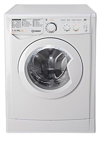 Indesit EWDC 6145 W DE Waschtrockner / 972 kWh / kg / MyTime: Täglich-Schnell-Programme unter 1 Stunde / Aquastopp