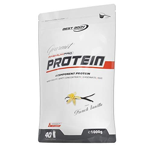Best Body Nutrition Gourmet Premium Pro Protein French Vanilla Zipp-Beutel, 1000 g