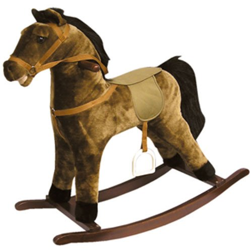 Lowest Prices! Rocking Horse with Black Mane and Tail 28 by Charm Company