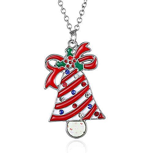 Fablcrew Kettenöl, Weihnachtsglocke, für Damen und Party, Größe 45+5,8 cm, 4 x 2,5 cm