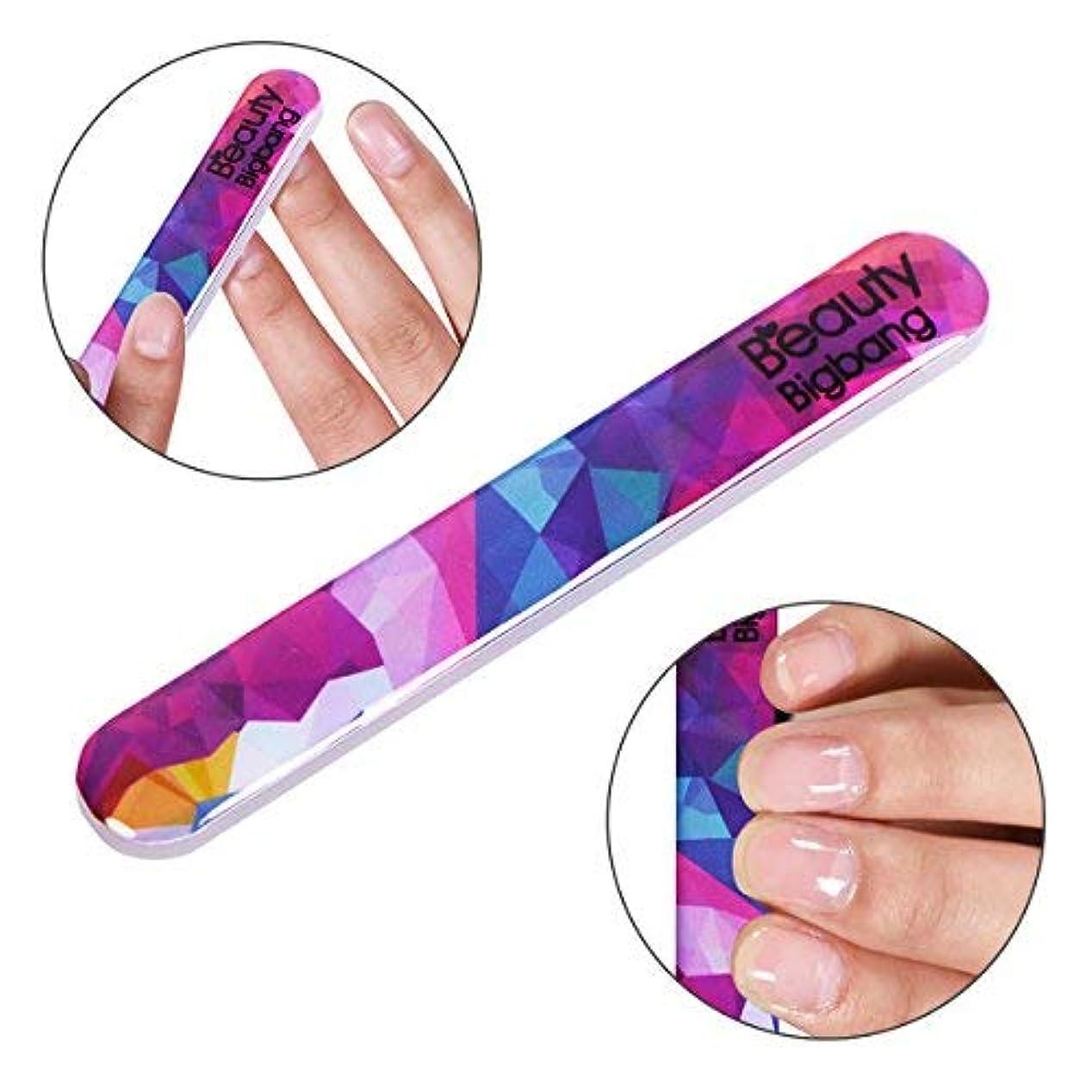 思い出させるの間で宣言yideaHome 爪やすり ガラス ケース付き ネイルファイル ネイルシャイナー つめケア ガラス製 ネイルケア 甘皮処理
