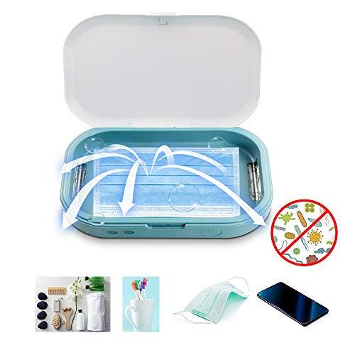 KKmoon - Esterilizador UV portátil esterilizador, caja UV luz desinfectante, caja UV, máscara limpiadora para teléfono móvil, chupetes, relojes, auriculares, polvos y joyas