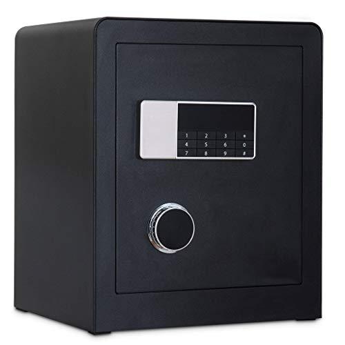 ZHEDYI Brandwerende Kluis, kluizen Thuis Klein 45cm, Kan Aan de muur worden gemonteerd Anti-diefstal Brandbeveiliging Code Sleutel Kluis, Intelligente Dual Alarm Apparaat Gebruikt om Juwelen Cash Waardevol