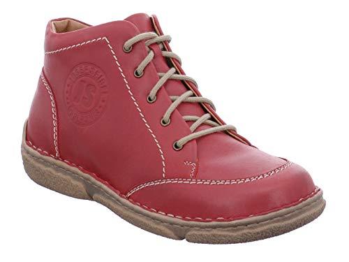 Josef Seibel Damen Stiefeletten Neele 01, Frauen Schnürstiefelette, leger Boot halb-Stiefel schnür-Bootie übergangsschuh,Rot(Hibiscus),41 EU / 7 UK