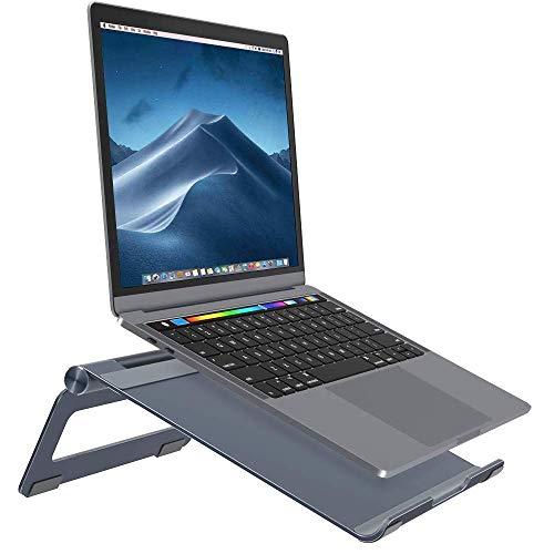 Nulaxy ノートパソコンスタンド ノートPCスタンド ひざ上テーブル pc台 アルミ製 7~17インチ対応 角度調整可能 冷却Macbook/iPad//Sony/Lenova/Samsung/ラップトップなどに対応 灰