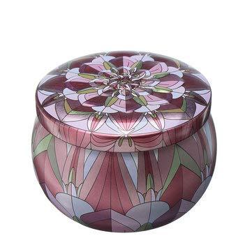 MASUNN Retro Ronde Tin Box Thee Snoep Sieraden Munt Opslag Container Case Bruiloft gunsten, C, 1
