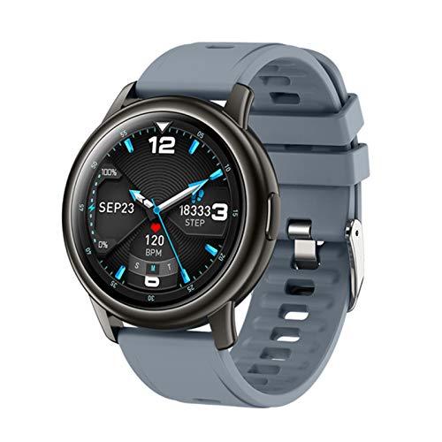 ZYDZ Reloj Inteligente para Hombres y Mujeres S27, podómetro Deportivo al Aire Libre, Ritmo cardíaco y monitoreo de presión Arterial Reloj Inteligente a Prueba de Agua Android iOS,A