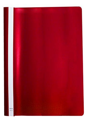 Elba 100550194 - Bolsa de 20 dossiers fásteners de plástico flexible, color rojo
