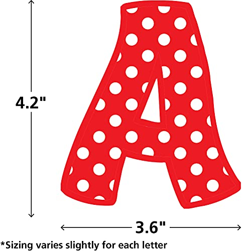 Teacher Created Resources Red Polka Dots Funtastic Font 4-Inch Letters Combo Pack (5344) Photo #2