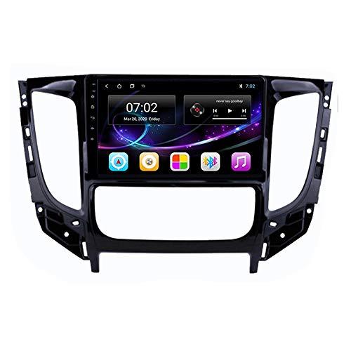 Radio Estéreo De Coche Bluetooth Apoyo De Reproductor MP5 Llamadas Manos Libres Radio FM Enlace Espejo/WiFi/AUX Entrada/1080P Video/SWC, para Mitsubishi Triton 2015-2020,Quad Core,WiFi 1+16