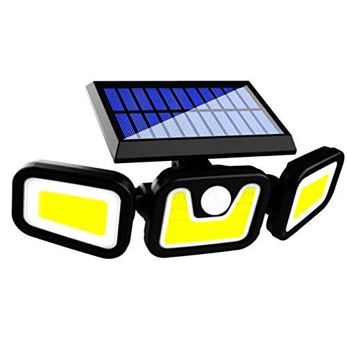 【2021最新版Solar lamp】ソーラー ライト,センサーライト 屋外,人感センサーライト,ソーラーライト 屋外 人感センサー,ledセンサーライト,屋外 ソーラー大容量バッテリー 100COB高輝度1200ルーメン 360°角度調整可能 IP65防