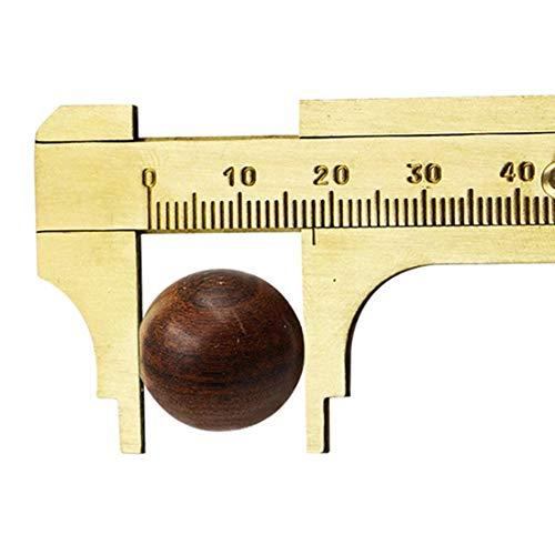 XUAILI schuifmaat 80 mm antiek noniusschuiver koper vernier spoor caliper schaal mini messing sliding zakzadel (goud)