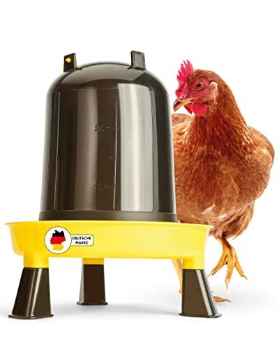 DESCENA® Hühnertränke 3l: Beheizbare Geflügeltränke Hühner I Tränke Hühner zum Aufhängen I Hühnertränke Winter - Größe verstellbar I Hühnerstall Zubehör I Hühner Tränkeautomat