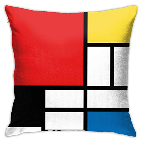 N/Q 45X45cm Throw Pillowcase,Red Yellow Blue White Plaid Square Outdoor Pillowcase Sofa Cover Decorative Cushion Cover, Soft, Used for Car Bed Living Room