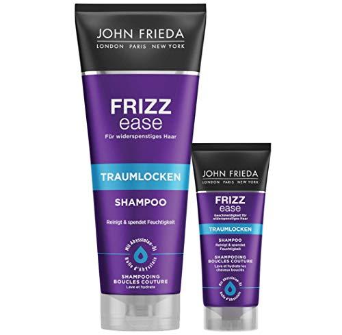 John Frieda Frizz Ease Traumlocken Shampoo, Vorteils-Set inklusive Reise-Größe für Unterwegs, 250 ml + 50 ml