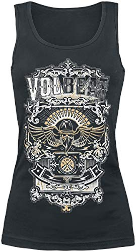 Volbeat Old Letters Frauen Top schwarz XXL 100% Baumwolle Band-Merch, Bands