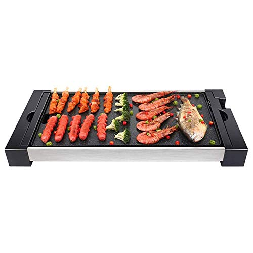 YFGQBCP 1800W eléctrico Teppanyaki Grill Barbacoa sin Humo con Grandes Fácil Limpieza:...
