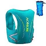 TRIWONDER Mochila de hidratación Ligero 10L Superior Chaleco para Trail Running Ciclismo Marathoner Hombre Mujer (Verde - L/XL - 2L vejiga de Agua TPU)