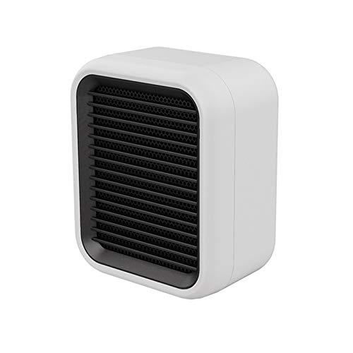 ASY Elektrische Heizung, tragbarer Mini-Keramik-Heizlüfter Schnelles Heizung Thermostat Personal Heizgeräte Gebläse mit Umkippen und Überhitzungsschutz for Home Office (Color : White)