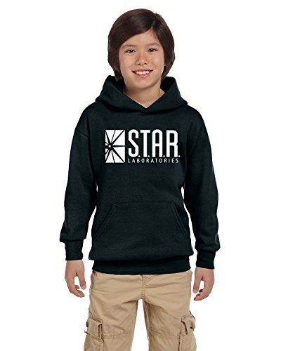 Star Lab Unisex Youth Pullover Hoodie Sweat Shirt Large Black
