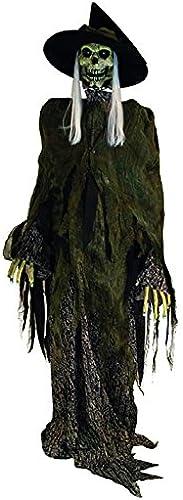 Deko-Figur-Hexe mit Sound, Licht und Bewegung