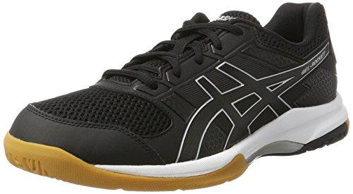Asics Gel-Rocket 8, Zapatos de Voleibol Hombre, Negro (Black/black/white), 46.5 EU