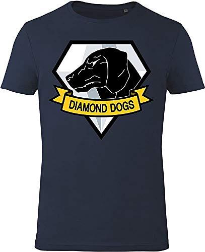 Gozoo Metal Gear Solid T-Shirt Men Diamond Dogs 100% Cotton Blue
