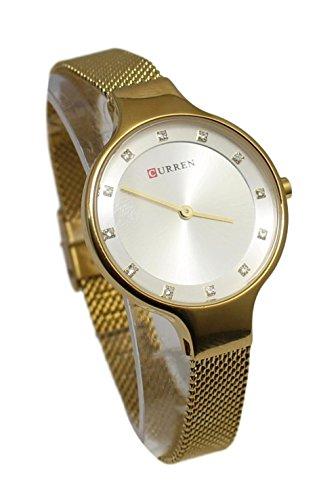 Ernest - cf104_Coffret Montre Femme Cristal Doré Plus Bracelet