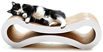 PetFusion Ultimate Cat Scratcher Lounge   Reversible Large Cat Infinity Scratcher Lounger in Multiple Colors   Made from Recycled Corrugated Cardboard & Non-Toxic Glue