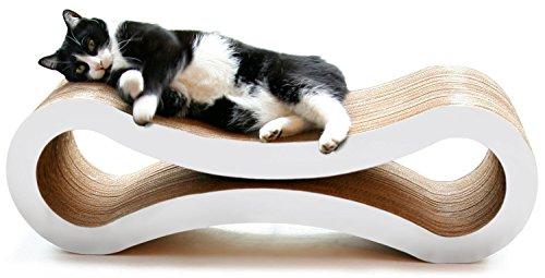 PetFusion Ultimate Cat krabpaal LOUNGE, groot, cloud wit