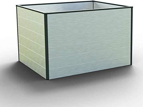GFP Christina Aluminium Hochbeet für den Garten - 119x99x77cm, formstabil und witterungsbeständig auch bei Hagel mit Aluminium-Hohlkammerprofilen, Verschiedene Sets vorhanden - Made in Austria