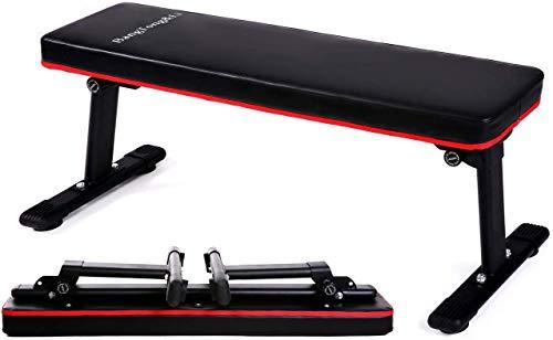 BangTong&Li フラットベンチ 筋トレ ベンチ トレーニングベンチ 耐荷重300KG 折り畳み式 ダンベルベンチ ス...