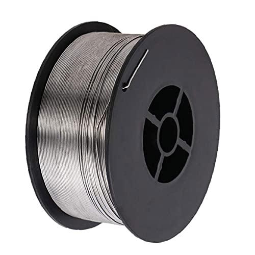 Herramientas de soldadura electrónica Alambre de soldadura E71T-GS 0.8mm 1 kg Aleación Sin gas núcleo Soldadura Soldadura Spool Silver 1roll