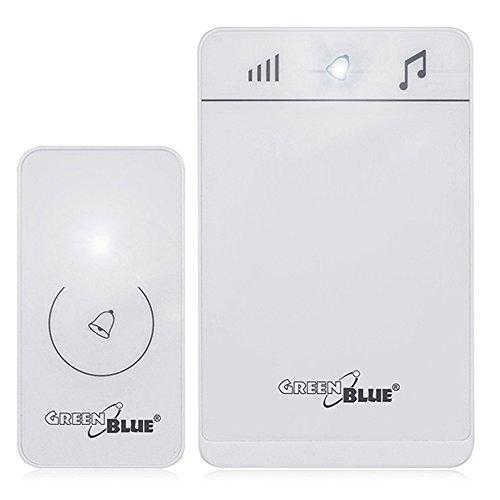 GreenBlue GB111 W draadloze deurbel met LED-verlichting ontvanger zender wit