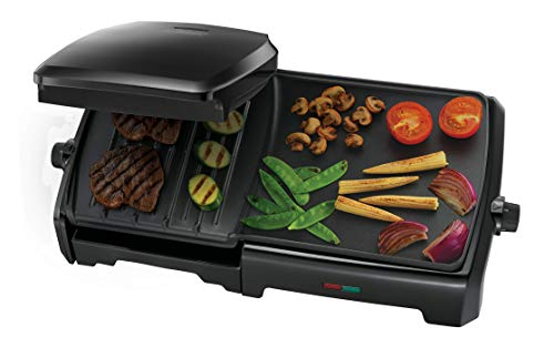 George Foreman 23450 Black 10 Portion Family Entertaining Grill & Griddle {4008496879144}