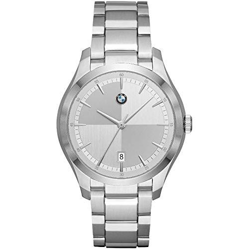 Orologio Uomo BMW BMW6000 Bracciale Acciaio Silver Bianco NEW