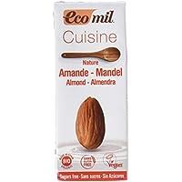 EcoMil Cousine Almond Nature, Crema de Almendras para cocinar - Pack de12 unidades de 200 ml