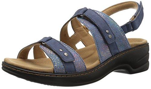 Trotters Women's Newton Sandal, Blue, 10.5 W US