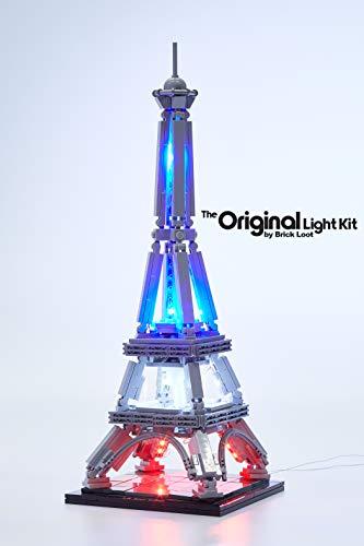 Brick Loot LED Lighting Kit for Your Lego Eiffel Tower Set...