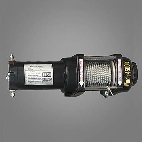 ANJING 12V/24V 4500lb De múltiples Fines Portátil Cabrestante eléctrico,Polipasto eléctrico