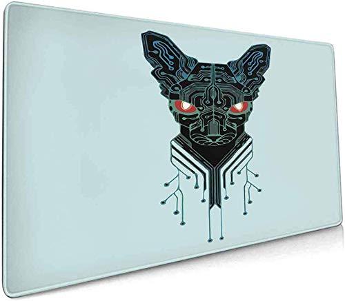 Erweiterte Laptop-Mausunterlage Gaming-Mausunterlage, dick, bequem, wasserdicht und faltbar Matte Genießen Sie präzise und reibungslose Betriebserfahrung Animal Dog - 11,8 'x 31,5' Zoll