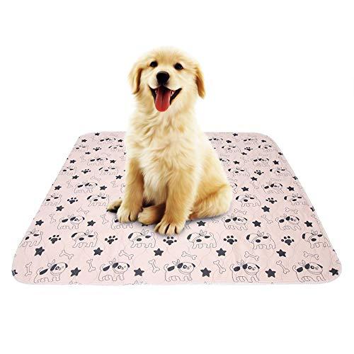Smandy Pet Pee Pad, 3 Tamaños Reutilizable Impermeable Cachorro Perro Gato Pee Pads Cama Alfombra Lavable Absorbente Mascota Trainging Pads Orina de Perro(70×80cm)