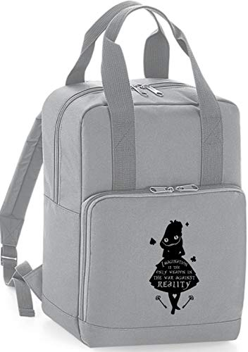 HippoWarehouse Imagination is The Only Weapon in The War Against Reality Quote Premium Twin Handle Backpack School College Bag 28 x 38 x 12cm 14 litres