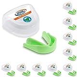 10x Game Guard Paradenti/Paradenti Denti Protezione/, colore: verde menta, Paradenti, approvato CE, ideale per la scuola sport, Bambino