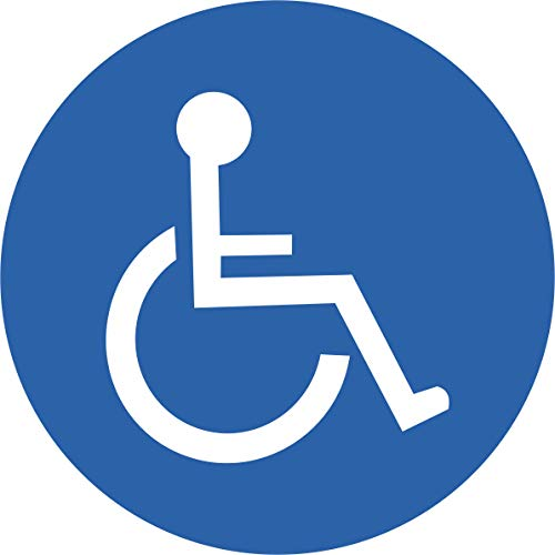 INDIGOS UG Autoaufkleber für Behinderte 95x95 mm - Aufkleber für Behinderte - Auto, Krankentransport