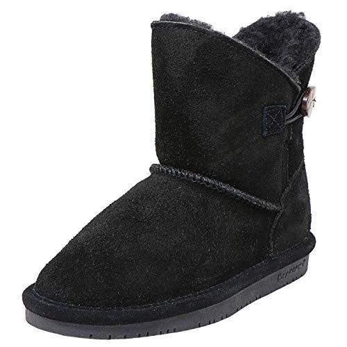 BEARPAW Girl's Snow Boot, Schwarz Ii, Womens 10